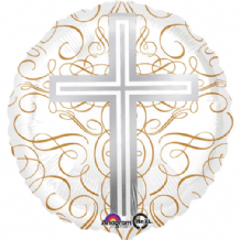 "Elegant Cross Foil Balloon (18"") 1pc"
